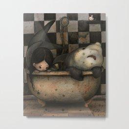 Creepy Bathroom Metal Print