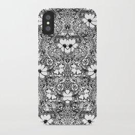 BECAUSE black and white mandala iPhone Case