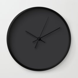 Welcome Warmth ~ Weathered Black Wall Clock