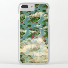 Repetition map Clear iPhone Case