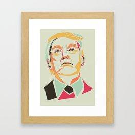 Donald Trump Pop Art Framed Art Print