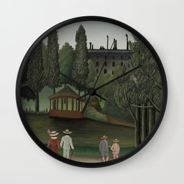 Henri Rousseau - View of Montsouris Park, the Kiosk (Vue du Parc Montsouris, Le Kiosque) Wall Clock