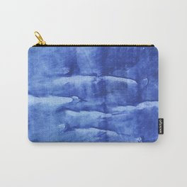 Corn flower blue abstract wash drawing painting Carry-All Pouch