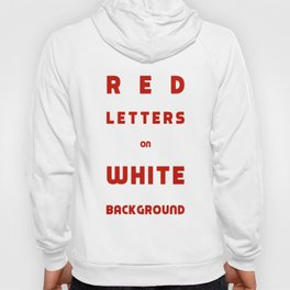 Red on White Hoody