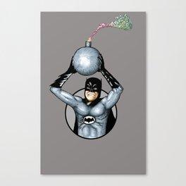 60's Bat man Bomb Canvas Print