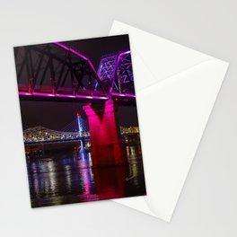 Three Bridges Over the Ohio Stationery Cards