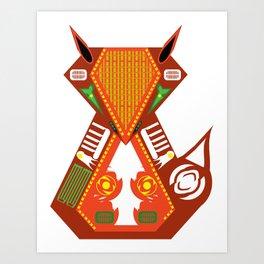 Organic Fox Art Print