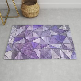 Purple Lilac Glamour Shiny Stained Glass Rug