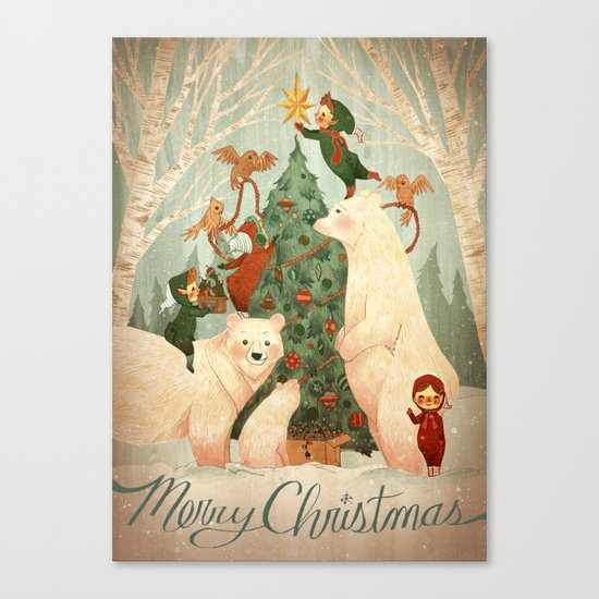 Christmas Card 2014 Canvas Print