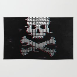 Loading Game over Stereo glitch Rug