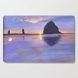 Sunset at Haystack Rock Cutting Board