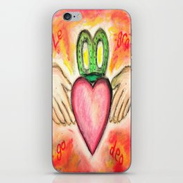 Irish Valentine Wedding Anniversary, Claddagh oil pastel card With Love Forever iPhone Skin