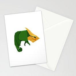 Origami Chameleon Stationery Cards