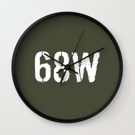 68W Combat Medic Specialist Wall Clock