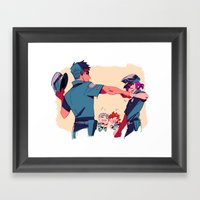 Samezuka Police Dept Framed Art Print