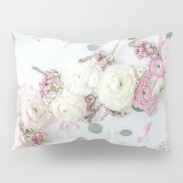 SPRING FLOWERS WHITE & PINK Pillow Sham