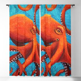 Holding On - Octopus Blackout Curtain