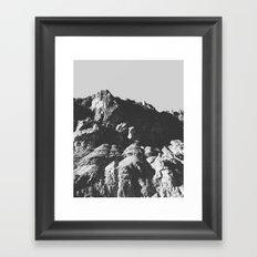 Black & White Mountains Framed Art Print