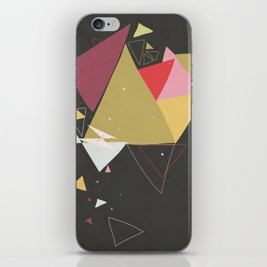 Exploding Triangles//Four iPhone & iPod Skin