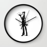 catwoman Wall Clocks featuring Catwoman by nachodraws