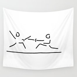 fence fight saber fencer sword Wall Tapestry