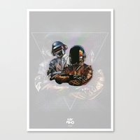 daft punk Canvas Prints featuring Daft Punk by LostMind