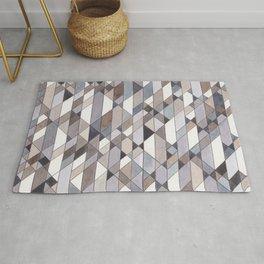 Triangle Pattern no.22 grays Rug