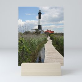 Fire Island Light With Reflection - Long Island Mini Art Print