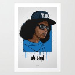 Ab Soul Art Print