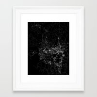 seoul Framed Art Prints featuring Seoul by Line Line Lines