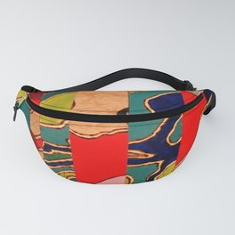 Puzzled Map Fanny Pack