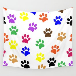 Paw print design Wall Tapestry