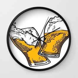 Beer In Motion Wall Clock