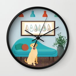 A Labrador Retriever Makes A House A Home Wall Clock