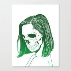 SKull GIrls 2 - Forest Fern Canvas Print