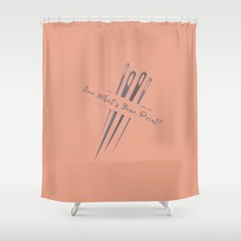 Vintage Sew So Whats Your Point Funny Pun Sewing Shower Curtain