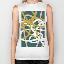 Abstract Lines 02B Biker Tank