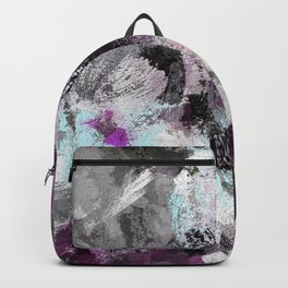Contemporary Art - Purple Abstract Art Backpack