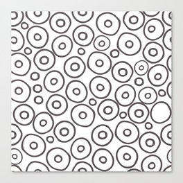 circles 2 - brown and white Canvas Print