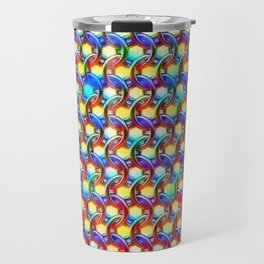 Rainbow chain mail Travel Mug