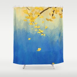 Fall Painting Shower Curtain
