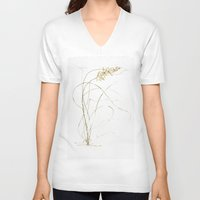 plant V-neck T-shirts featuring Plant by Kamiledesigns