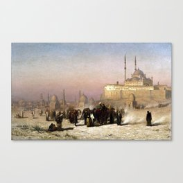 Louis Comfort Tiffany On the Way between Old and New Cairo, Citadel Mosque of Mohammed Ali, and Tomb Canvas Print
