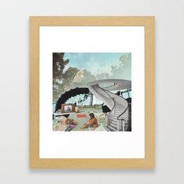 Mt. Rushmore Beach Framed Art Print