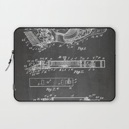 Barber Hair Clippers Patent - Barber Shop Art - Black Chalkboard Laptop Sleeve