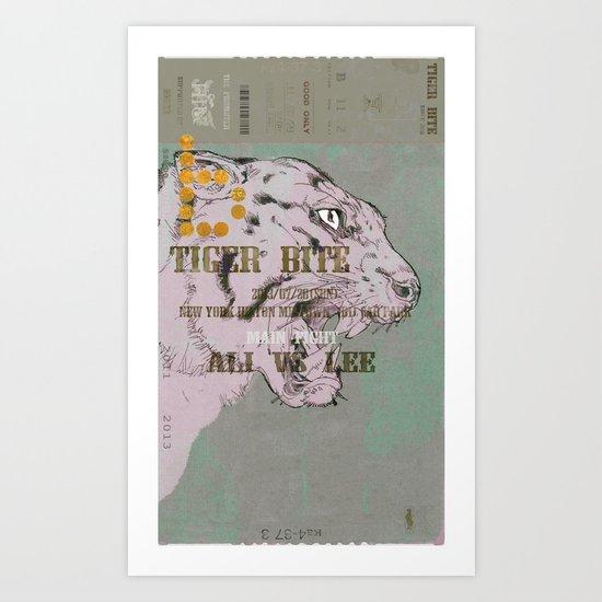 TIGER BITE - ALI VS LEE Art Print