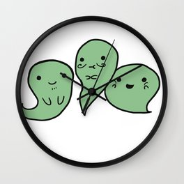 G G G GHOSTS! Wall Clock