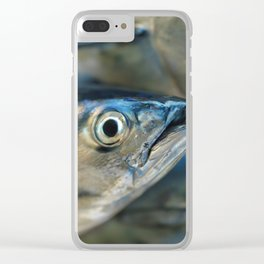 Big eye, tuna, fish, still life, photo, fine art, print, nature, sea, fishing, detail, blue Clear iPhone Case