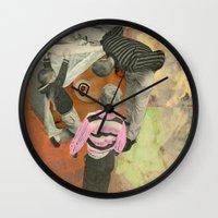 boob Wall Clocks featuring Kitchen Boob by Molly Halligan