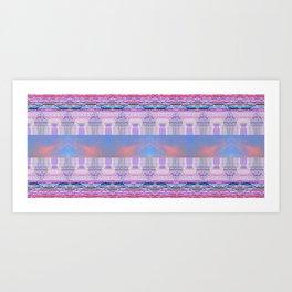 Glitch, Psychedelic NetArt Rug Art Print